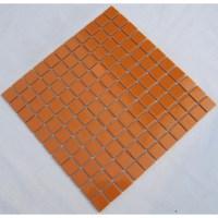 Glazed Porcelain Square Mosaic Tiles Design Orange Ceramic ...