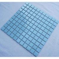 Glazed Porcelain Square Mosaic Tiles Design Blue Ceramic ...