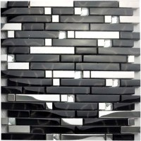 Metallic Backsplash Tiles Silver Stainless Steel Metal ...