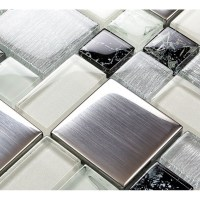 Metallic Backsplash Tile Brush 304 Stainless Steel Metal ...