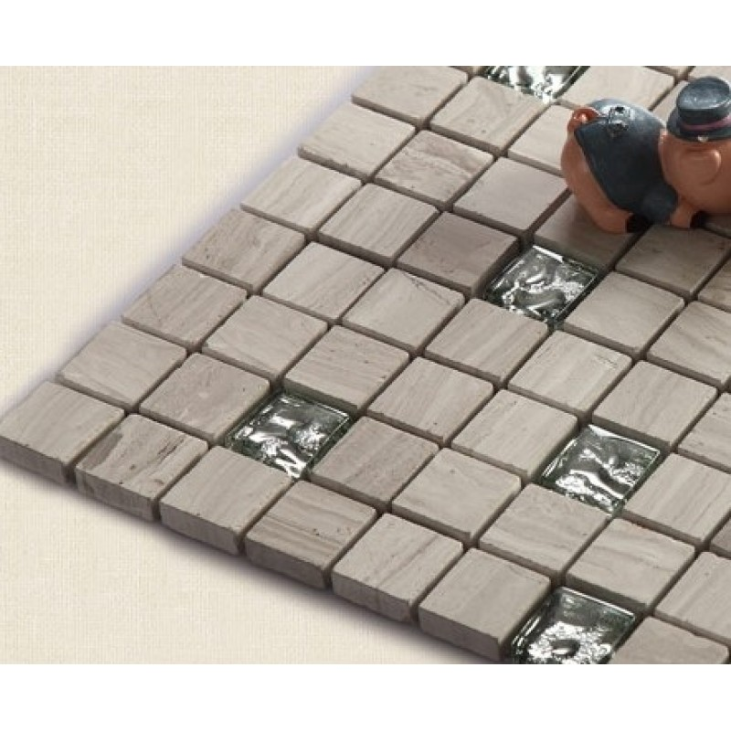 Stone and Glass Mosaic Sheets Cheap Square Tiles Hand