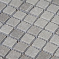 Stone Mosaic Tile Gray Patterns Bathroom Wall Marble
