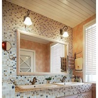 Stone Mosaic Tile Square Patterns Bathroom Wall Marble ...