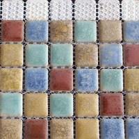 Porcelain Mosaic Floor Tile Backsplash Ideas