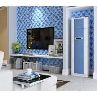 blue glass mosaic tiles crackle tile hand paint tile ...