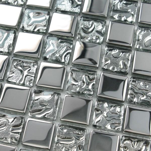 Glass Mirror Mosaic Tile Kitchen Backsplash