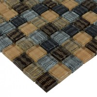 Glass Mosaic Tiles Blacksplash Crystal Mosaic Tile ...