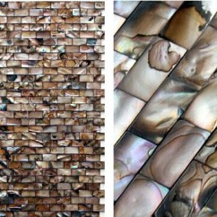 Glass Tiles For Kitchen Backsplash Storage Organizers Shell Mosaic Cheaper Mother Of Pearl Tile
