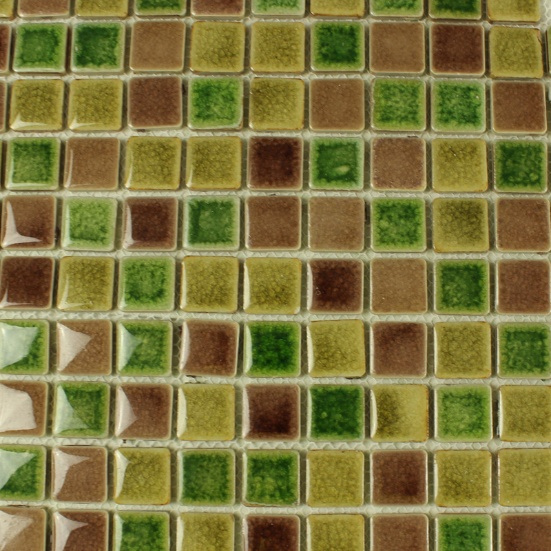 green porcelain square mosaic tiles wall glazed ceramic tile flooring kitchen backsplash as8778
