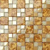 Mosaic Gold Tiles | Tile Design Ideas