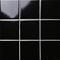 black SHINY porcelain tile NON-SLIP tile washroom wall ...