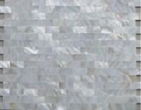 White Mother of Pearl Tiles Backsplash Uniform Bricks ...