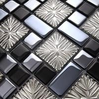 metal coating mosaic tiles art design glass tile bedroom ...