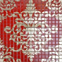 Crystal Glass Tile Red Puzzle Mosaic Tile Murals Crystal ...