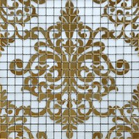 Crystal Glass Tile Gold Mosaic Collages Design Interior ...