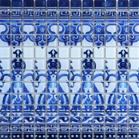 Crystal Glass Tile Blue and White Puzzle Mosaic Tile ...
