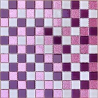 White and Purple Backsplash Powder Pink Bathroom Tile ...