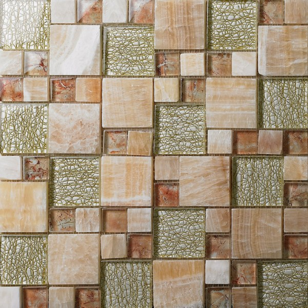 Glass Mosaic Bathroom Wall Tile
