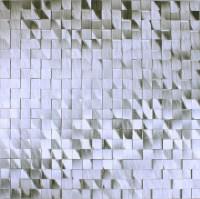 Metallic Mosaic Tile Silver Brushed Aluminum Seamless ...