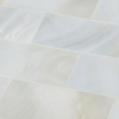Penny Tile Backsplash Kitchen Yellow And Gray Curtains White Mother Of Pearl Floor Mosaic Seamless Subway ...
