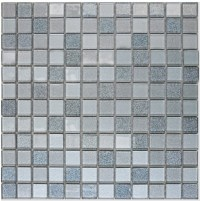 Gray Crystal Glass Mosaic Tiles Design Kitchen Bathroom