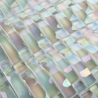Glass Mosaic Tile Interlocking Arched Crystal Glass Tile ...