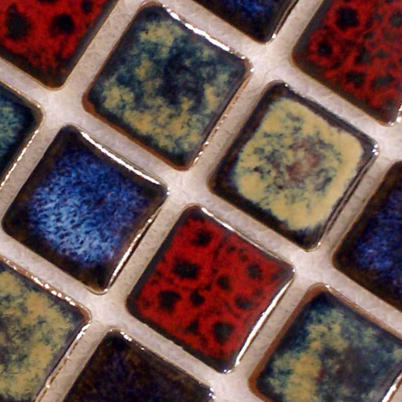Italian Porcelain Tiles Square 1 Mosaic Tile Colorful