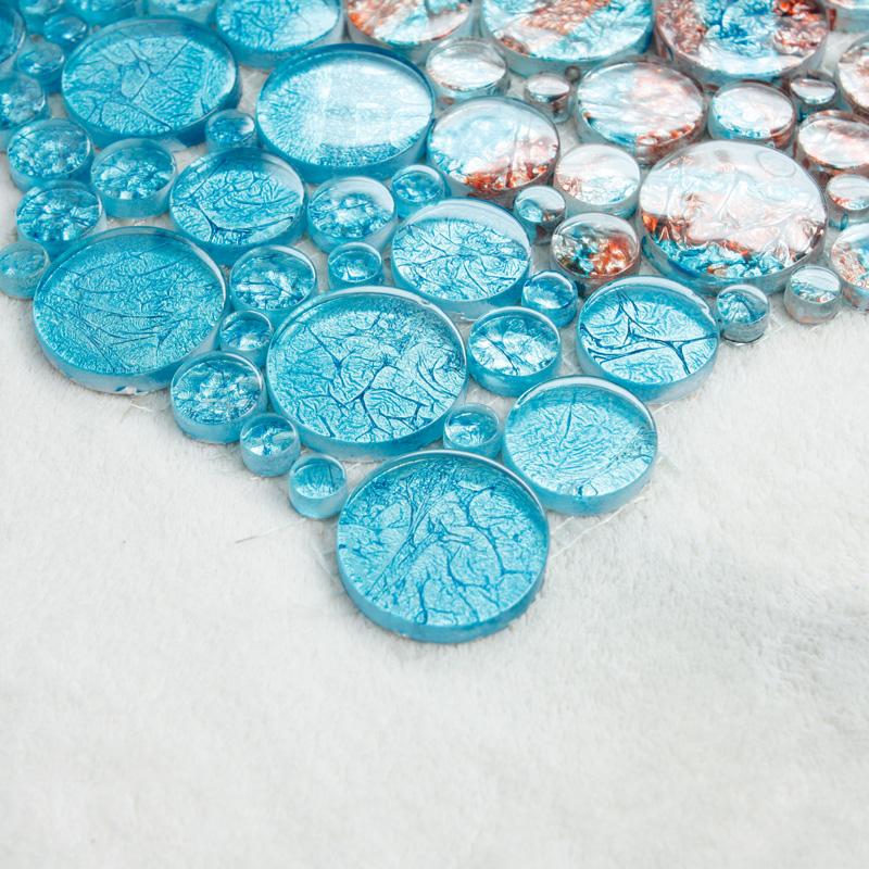 Glass Mosaic Tiles Blacksplash Crystal Mosaic Tile
