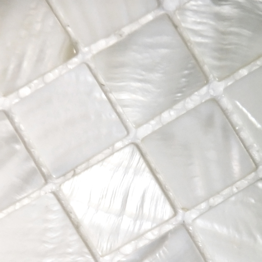 green kitchen backsplash cupboard handles shell tile mosaic wall tiling subway ...