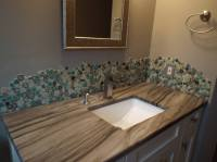 Porcelain & Pebbles Bathroom Backsplash Heart
