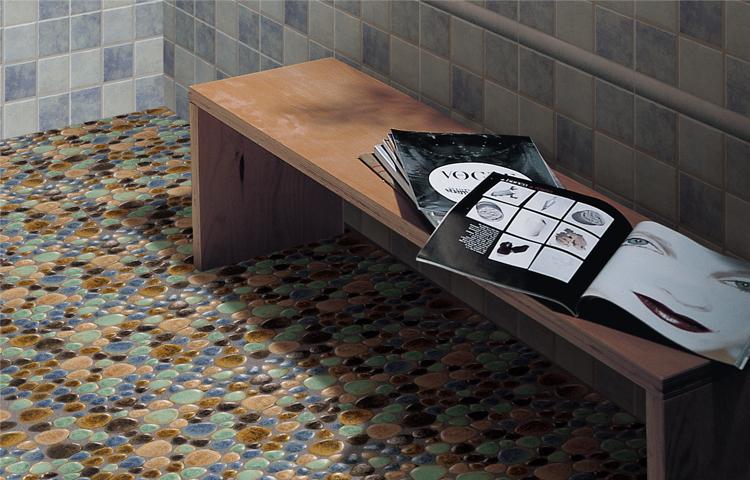 mosaic kitchen floor tiles how to replace countertops wholesale porcelain tile pebble design shower ...