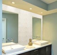 Mother of Pearl Tile Bathroom Mirror Wall Backsplash