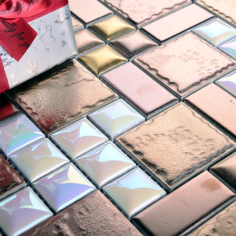 wholesale porcelain tile mosaic flower surface art tiles kitchen backsplash bathroom wall stickers plated