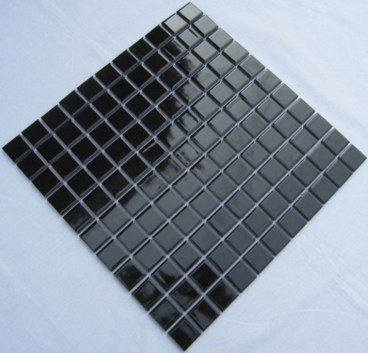 kitchen backsplash glass tile delta chrome faucet glazed porcelain square mosaic tiles design black ceramic ...