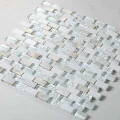 Glass Subway Tile Kitchen Backsplash Outdoor Layout Cream Stone And Mosaic With Shell ...