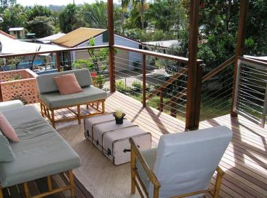 Open-Air Covered Deck with Subtle Attraction