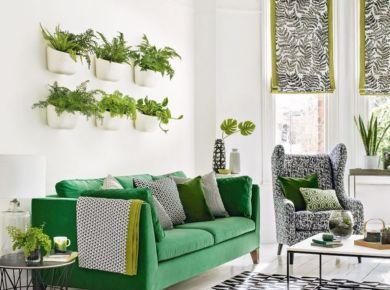 Modern Botanical Style of Green Lounge