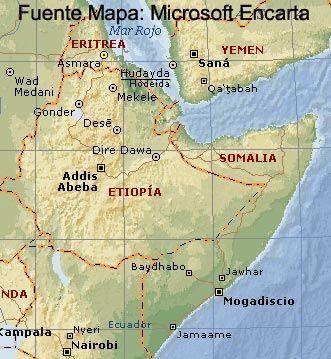 Cuerno De Africa Mapa.Mapa Cuerno De Africa