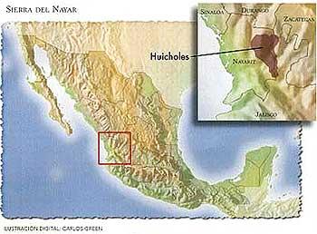 Ubicación de los Huicholes