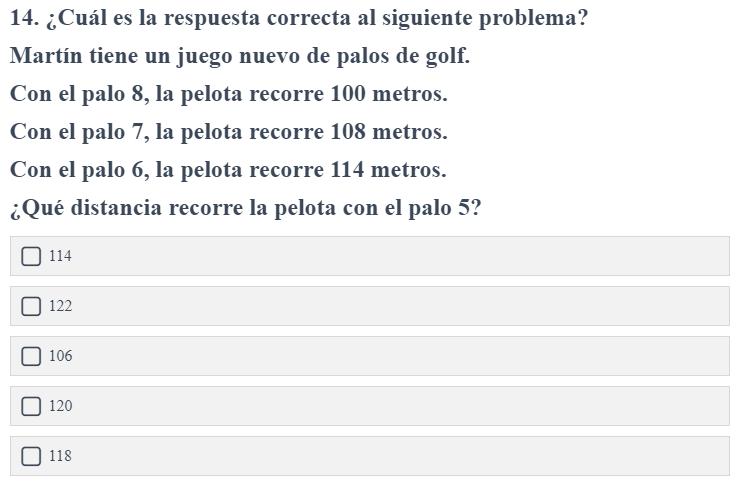 Pregunta inferencias test de inteligencia