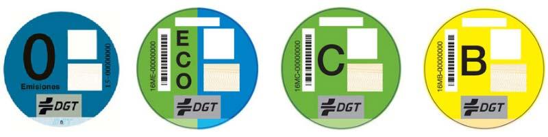 Etiquetas DGT coches ecológicos