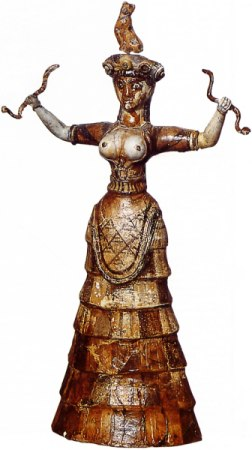 """Dea dei serpenti"", 1500 a.C. (museo Eraklion)"