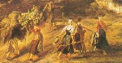 Rubens, Il ritorno dal lavoro (part.)