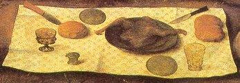 J.  van Coninxloo, Scene della vita di s. Benedetto (1520 Bruxelles, part.  della mensa).