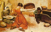 Courbet, Le vagliatrici di grano 1854