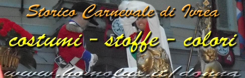 Costumi – stoffe – colori del Carnevale di Ivrea