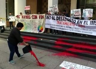 imss protesta desabasto VIH portada