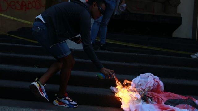 protesta desabasto VIH