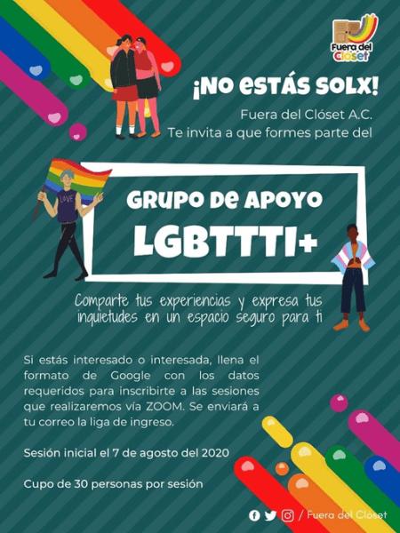 Grupos de Apoyo LGBT de la organización Fuera del Clóset