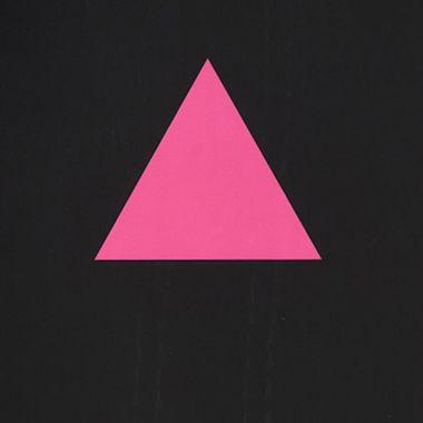 Triángulo rosa, uno de los símbolos LGBT+